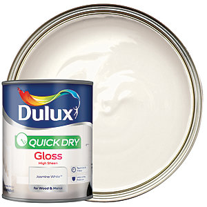 Dulux Quick Dry Gloss Jasmine White 750ml