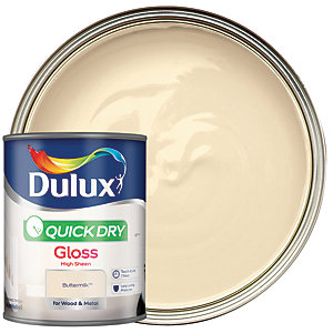 Dulux Quick Dry Gloss Buttermilk 750ml