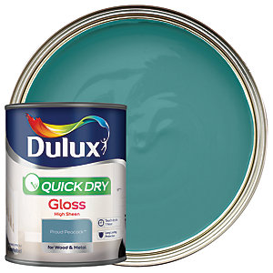 Dulux Quick Dry Gloss Proud Peacock 750ml