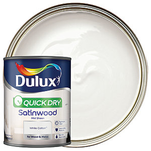Dulux Quick Dry Satinwood White Cotton 750ml