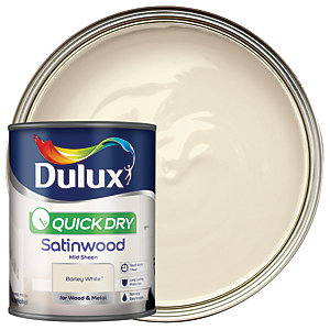 Dulux Quick Dry Satinwood Barley White 750ml