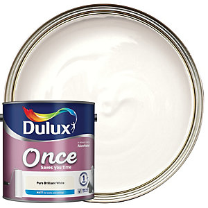 Dulux Once Matt Pure Brilliant White 2.5L