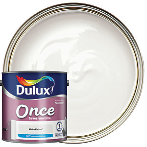 Dulux Once Matt White Cotton 2.5L