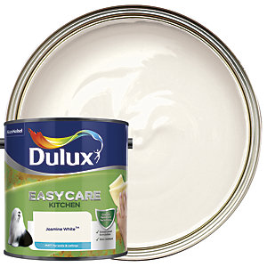 Dulux Kitchen+ Matt Emulsion Paint Jasmine White 2.5L