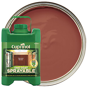 Cuprinol 1 Coat Sprayable Harvest Brown 5L