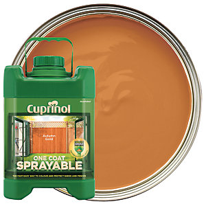 Cuprinol 1 Coat Sprayable Autumn Gold 5L