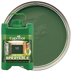 Cuprinol 1 Coat Sprayable Forest Green 5L
