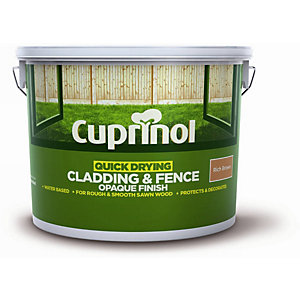 Cuprinol Quick Drying Cladding & Fence Opaque Finish Rich Brown 10L