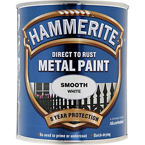 Hammerite Metal Paint Smooth White 750ml