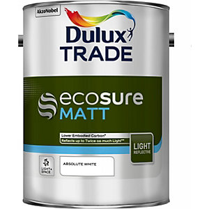 Dulux Ecosure Matt L&s Absolute White 5L