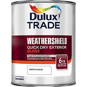 Dulux Trade Weathershield Quick Drying Exterior Gloss Medium Base 1L