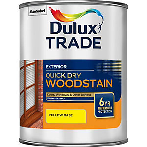 Dulux Colour Dimensions Weathershield Aquatech Woodstain Yellow 1L
