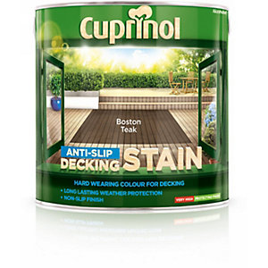 Cuprinol Anti Slip Decking Stain Boston Teak 2.5L