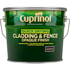 Cuprinol Quick Drying Cladding & Fence Opaque Finish Rustic Walnut 10L