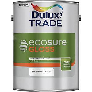 Dulux Ecosure Gloss Pure Brilliant White 5L