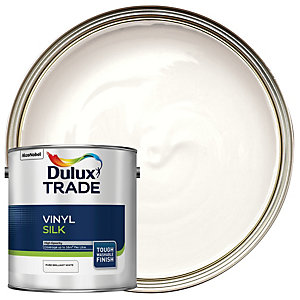 Dulux Trade Vinyl Silk Paint Pure Brilliant White 2.5L