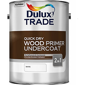 Dulux Quick Drying Wood Primer Undercoat White 5L