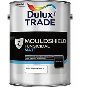 Dulux Paint 5Lt Pure Brilliant White Mouldshield Matt