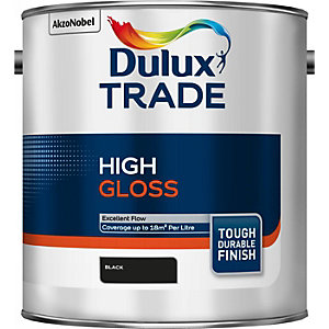 Dulux Trade High Gloss Paint Black 2.5L