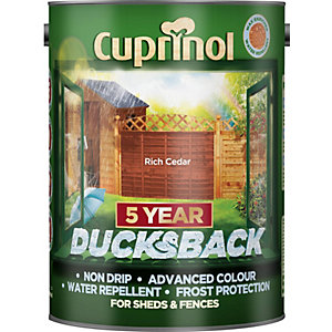 Cuprinol 5 Year Ducksback Rich Cedar 5L
