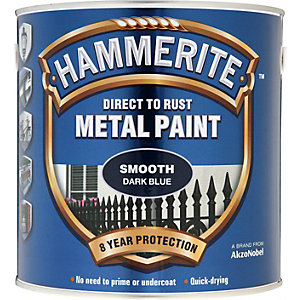 Hammerite Smooth Metal Paint Dark Blue 2.5L