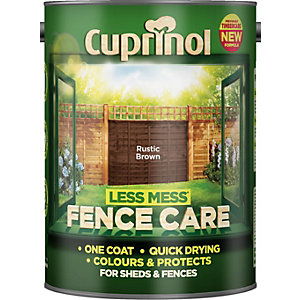 Cuprinol Less Mess Fence Care Rustic Brown 5L