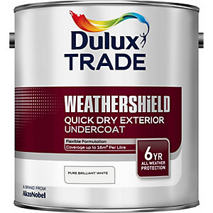 Dulux Weathershield Quick Dry Exterior Undercoat Pure Brilliant White 2.5L