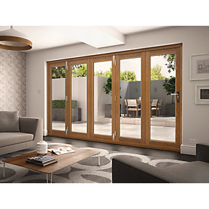 Wickes Albery External Door Folding Set Oak 12ft Wide