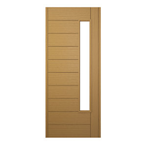 Wickes Stockholm External Oak Veneer Glazed Door 1981 x 838mm