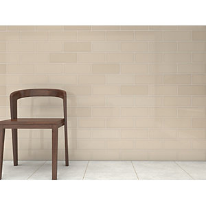 Wickes Soho Oat Ceramic Wall Tile 300 x 100mm