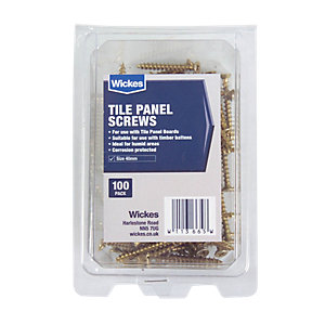 Wickes Tile Panel Screws Pack 100