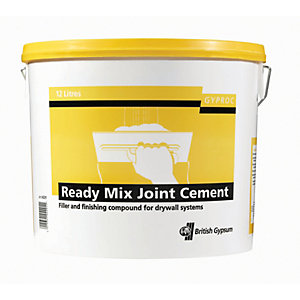 Gyproc Ready Mixed Joint Cement 12L