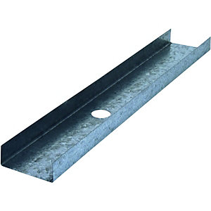 Wickes Galvanised 'U' Channel 0.55x72x3000mm