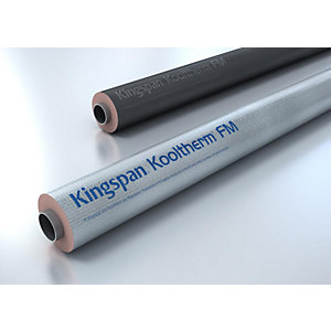 Kingspan Heating and Ventilation Pipe Insulation 48mm bore x 20mm thickness x 1000mm length