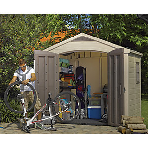 Wickes Double Door Plastic Apex Shed 6x8