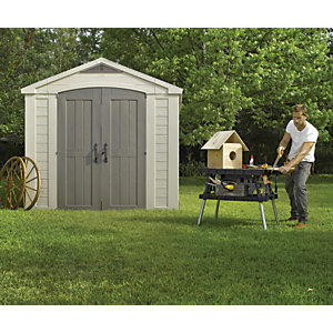 Wickes Factor Plastic Double Door Shed 8x8