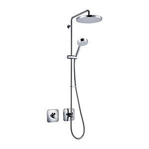Mira Adept With Built In Valve and Diverter Including Large Shower Head Chrome Finish BRD+
