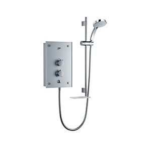 Mira Galena Electric Shower 9.8kW Metallic Silver Glass Fascia