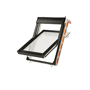 Keylite Centre Pivot Roof Window 1140mm X 1180mm White Frosted Glazing