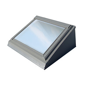 Wickes Flat Roof Window Pine Centre Pivot Clear Glass 980x550mm