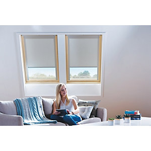 Wickes Roof Window Blinds Cream 550x780mm