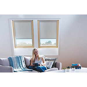 Wickes Roof Window Blinds Cream 1140x1180mm