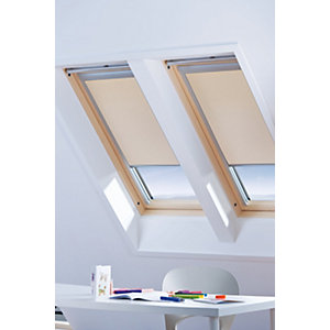 Wickes Roof Window Blinds Sand 660x1180mm