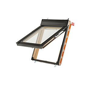 Keylite Means Of Escape Roof Window Top Hung Pine Clear 660mm X 1180mm