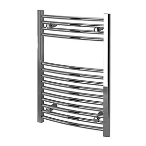 Kudox Towel Radiator 500 x 750mm Curved Chrome