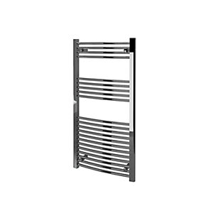 Kudox Towel Rail 600x1200mm Curved Chrome Radiator