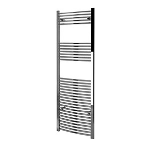 Kudox Towel Rail 600x1800mm Curved Chrome Radiator
