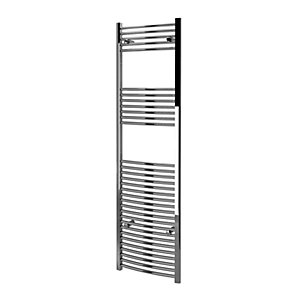 Kudox Towel Rail 500x1800mm Curved Chrome Radiator