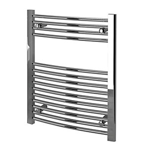 Kudox Towel Rail 600x750mm Curved Chrome Radiator