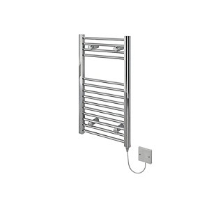 Kudox Electric Towel Radiator 400 x 700mm Flat Chrome